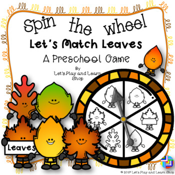 Spin the Wheel! Let's Match Leaves! A Preschool Game