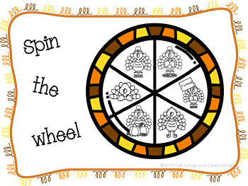 Spin the Wheel, Let's Match Turkeys! A Preschool Game