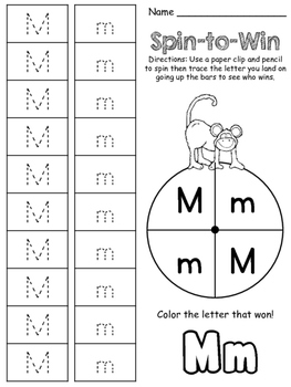 Spin to Win Alphabet Game