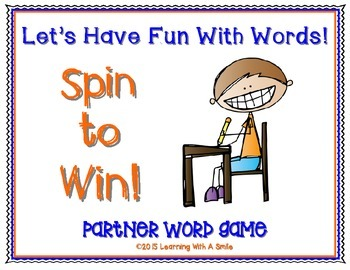 Fun Partner Word Game! Great for Fast Finishers, Subs, Cen