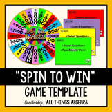 Spin to Win Game Template - For ALL Ages and Subjects
