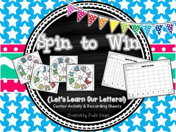 Spin to Win {Let's Spin Our Letters!}
