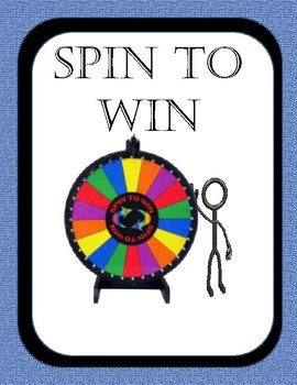 Spin to Win Numeral Card Version