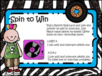 Spin to Win!! (add & subtract using place value strategy)