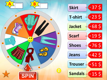 Spin wheel ( with sounds)