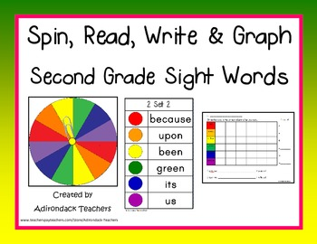 Spin,Read, Write and Graph Dolch Sight Words Second Grade