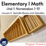 Spindle Boxes and Spindles Montessori Math Lesson Plan Num