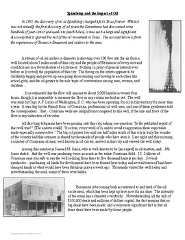 Spindletop Primary Source Analysis