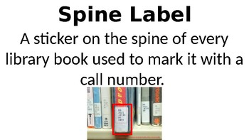 Spine Label and Call Number Word Wall Ppt. Signs - Editable