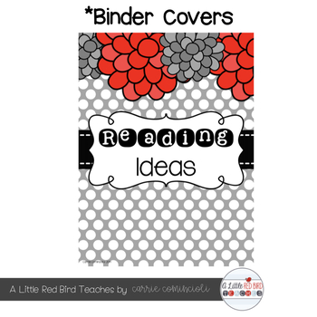 Spine Labels and Covers for Binders {Editable}