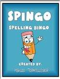 Spingo Spelling Bingo homework-word work-centers