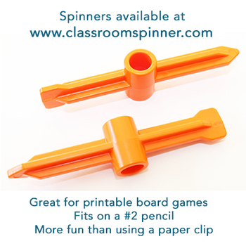 Sums to 20 - Spin and Add - Math Classroom Pencil Spinner Activity