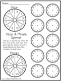 Time - Analog Clock - Minute and Hour - Spinner Activity