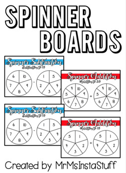 Spinner Addition/Subraction Boards