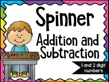 Spinner Addition and Subtraction