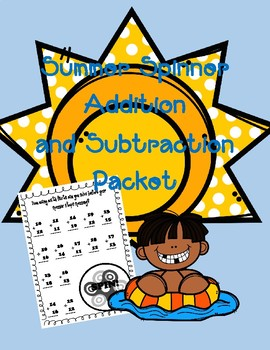 Spinner Addition and Subtraction Facts