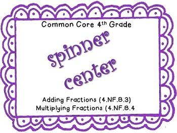 ~Spinner Center~ 4th Grade Fractions