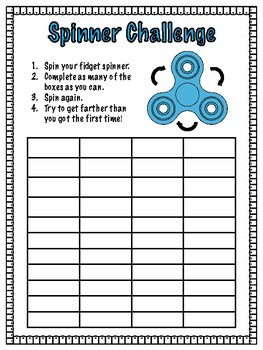 Spinner Challenge Template