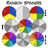 Spinner Clip Art - Rainbow