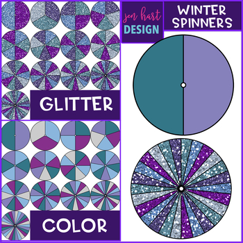 Spinners Clip Art - January Set