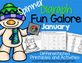 Spinner Digraph Fun Galore for January-Differentiated and Aligned