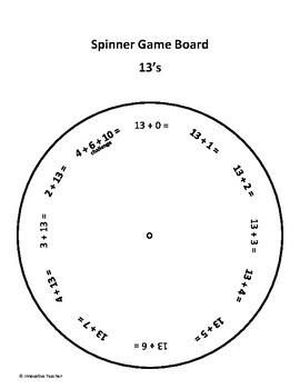 Spinner Game Addition