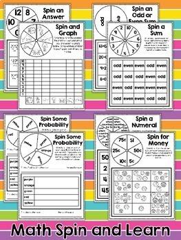 Math and ELA Spinner Games