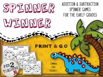 Spinner Games - Addition and Subtraction (Differentiated)