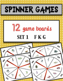 Speech Therapy Activities Spinner Games Set 1 F K G Sounds