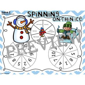 Spinner Games for Addition, Subtraction, Multiplication, Division