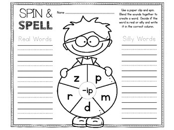 Spinner Games for CVC Words