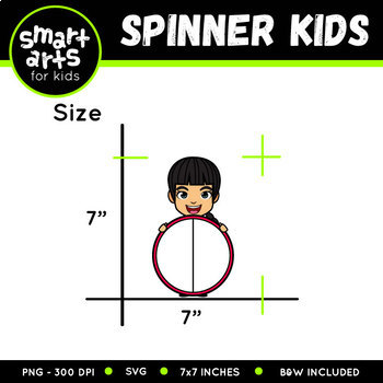 Spinner Kids Clip Art