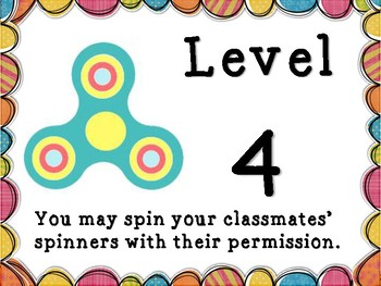 Spinner Levels for Classroom Management