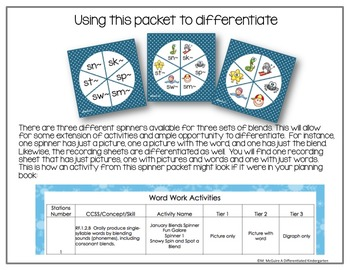 Spinner Literacy Fun All Year Long-13 Spinner Packs for the Year