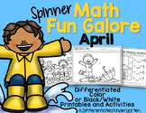 Spinner Math Fun Galore - April Printables-Differentiated-Aligned