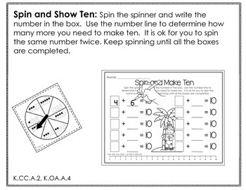 Spinner Math Fun Galore-June Printables Differentiated and Aligned