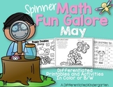 Spinner Math Fun Galore-May Printables Differentiated and Aligned