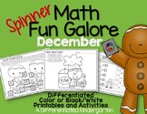 Spinner Math Fun Galore for December - Differentiated and Aligned