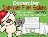 Spinner Rhyming Fun December-Differentiated/Aligned Printa