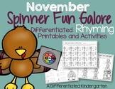 Spinner Rhyming Fun November-Differentiated/Aligned Printa