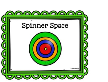 Spinner Space FREEBIE for Speech Therapy