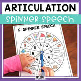 Spinner Speech Articulation Activity