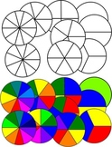 Spinner Templates both Black and White and Colorful for CD or DVD