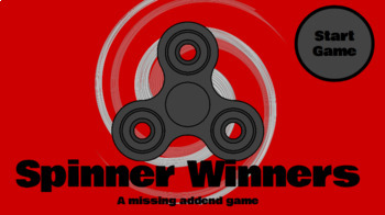 Spinner Winners a Missing Addend Game for Google Slides