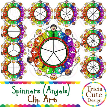 spinners christmas clip art angel glitter by tricia cute design