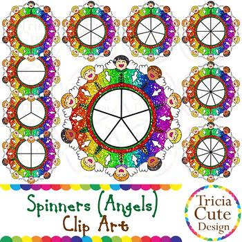 Spinners Christmas Clip Art – Angel Glitter