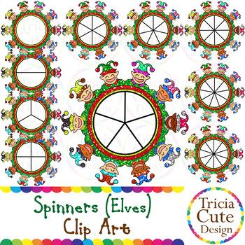 Spinners Christmas Clip Art – Elf Glitter