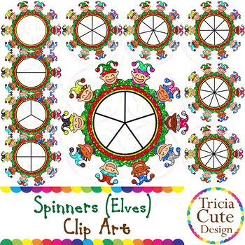 Spinners Christmas Clip Art – Elf Glitter