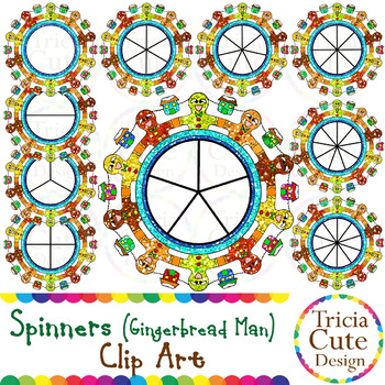 Spinners Christmas Clip Art – Gingerbread Man Glitter