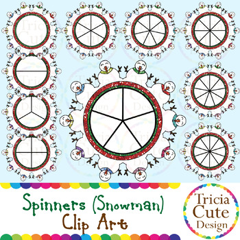 Spinners Christmas Clip Art – Snowman Glitter
